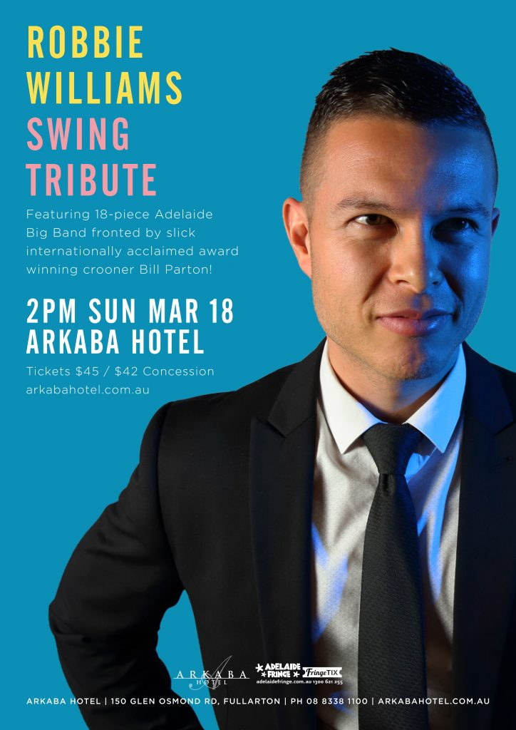 Adelaide Robbie Williams Swing Tribute Show